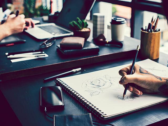 Tatuagem para iniciantes - treine desenhar